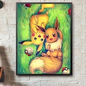 BOGO🎈5d diamond painting kit Pikachu pokemon